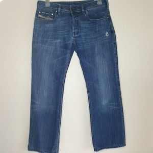 Diesel distressed zatiny button fly jeans 32×32